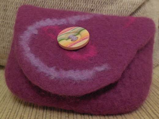 wet felted purse